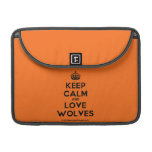 [Crown] keep calm and love wolves  MacBook Pro 13 Sleeves MacBook Pro Sleeve