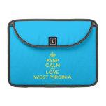 [Crown] keep calm and love west virginia  MacBook Pro 13 Sleeves MacBook Pro Sleeve