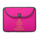"[Crown] keep calm and love shareya  MacBook Pro 13"" Sleeves MacBook Pro Sleeve"