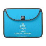[Crown] keep calm and love coboy junior  MacBook Pro 13 Sleeves MacBook Pro Sleeve