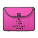 """[Crown] keep calm and rock that crown  MacBook Pro 13"""" Sleeves MacBook Pro Sleeve"""