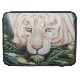 "Macbook Pro 15"" Sleeve White Tiger Cat"