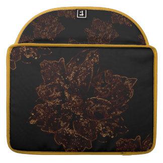 """Macbook Pro 15"""" with Brown Flower Design MacBook Pro Sleeve"""