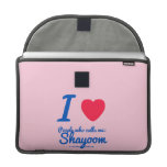 i [Love heart]  people who calls me:   shayoom i [Love heart]  people who calls me:   shayoom MacBook Pro Flap Sleeves Sleeves For MacBooks