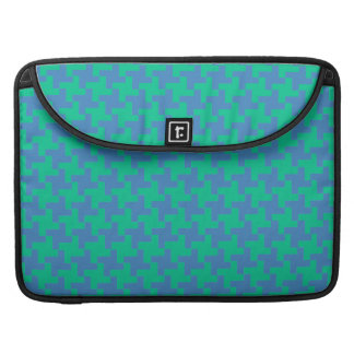 MacBook Pro Sleeve, Emerald and Blue Dogtooth MacBook Pro Sleeve