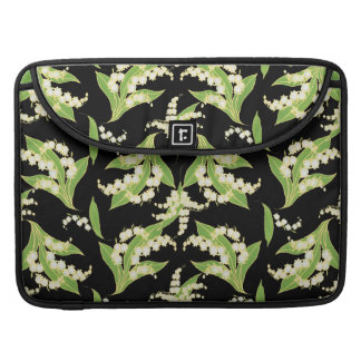 MacBook Pro Sleeve: Lilies of the Valley, Black Sleeve For MacBooks