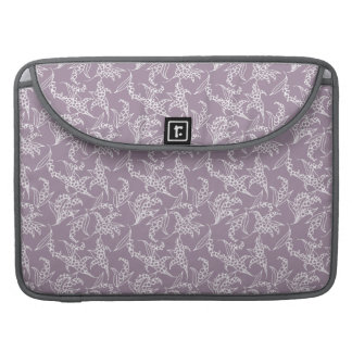 MacBook Pro Sleeve: Lilies-of-the-Valley, Mauve Sleeve For MacBook Pro