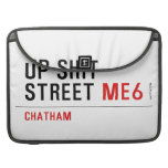 Up Shit Street  MacBook Pro Sleeves