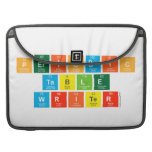 Periodic Table Writer  MacBook Pro Sleeves