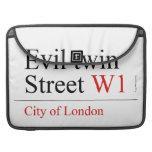 Evil twin Street  MacBook Pro Sleeves