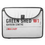 green shed  MacBook Pro Sleeves