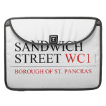 SANDWICH STREET  MacBook Pro Sleeves