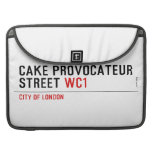 CAKE PROVOCATEUR  STREET  MacBook Pro Sleeves