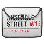 Arsehole Street  MacBook Pro Sleeves