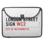 LONDON STREET SIGN  MacBook Pro Sleeves