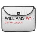 WILLIAMS  MacBook Pro Sleeves