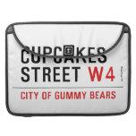 cupcakes Street  MacBook Pro Sleeves