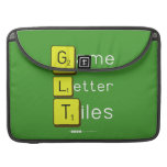 Game Letter Tiles  MacBook Pro Sleeves