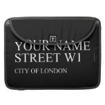 Your Name Street  MacBook Pro Sleeves
