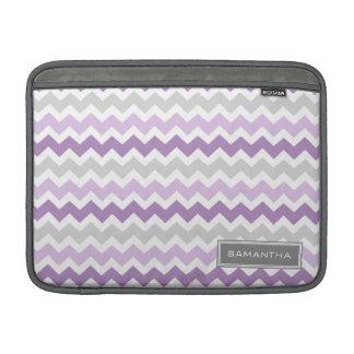 Macbook Purple Ombre Chevron Custom Name MacBook Air Sleeve