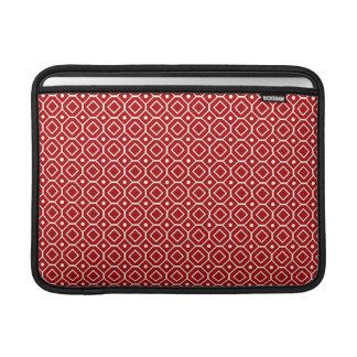 Macbook Red Retro Pattern MacBook Sleeve