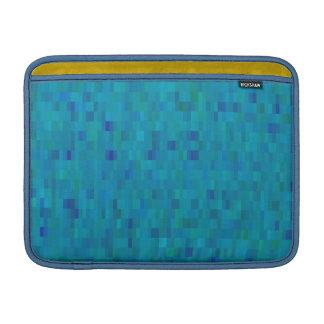 Macbook sleeve aqua tiles modern pattern