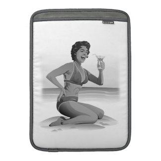 MacBook Sleeve summer pin-up with cocktail