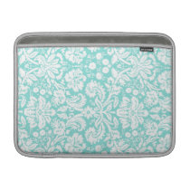 Macbook Teal Damask Pattern MacBook Air Sleeve