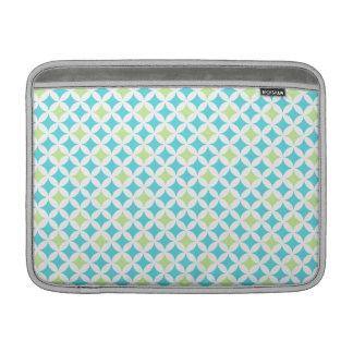 Macbook Teal Geometric Pattern Sleeve For MacBook Air