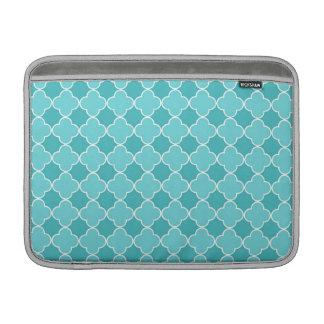 Macbook Teal Quatrefoil Pattern Sleeve For MacBook Air