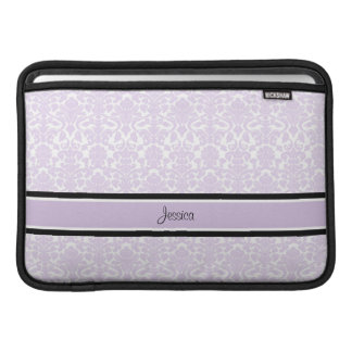 Macbook Violet Damask Custom Name Sleeves For MacBook Air