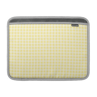 Macbook Yellow Gingham Pattern Sleeves For MacBook Air