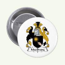 MacBrady Family Crest Button