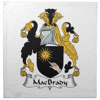 MacBrady Family Crest Cloth Napkin