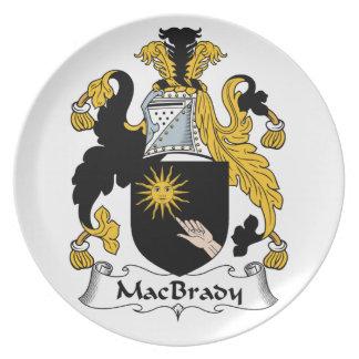 MacBrady Family Crest Dinner Plates