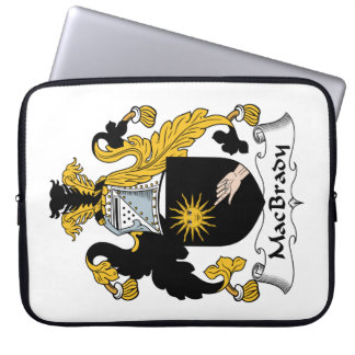 MacBrady Family Crest Laptop Computer Sleeve