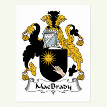 MacBrady Family Crest Postcard