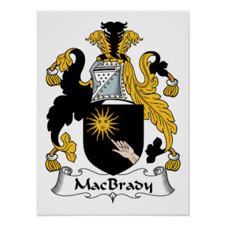 MacBrady Family Crest Poster