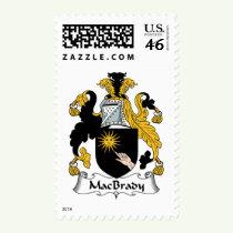 MacBrady Family Crest Stamps