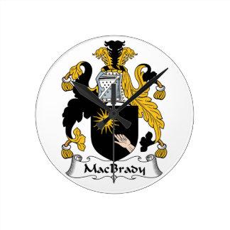 MacBrady Family Crest Wallclock