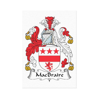 MacBraire Family Crest Canvas Print