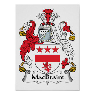 MacBraire Family Crest Print