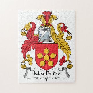 MacBride Family Crest Jigsaw Puzzle