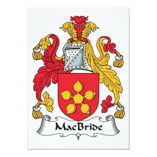 MacBride Family Crest Personalized Invites