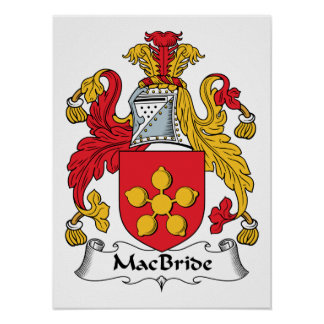 MacBride Family Crest Posters
