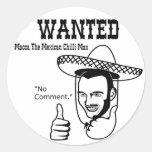 Macca Mexican Chilli Man Round Stickers