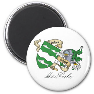 MacCabe Family Crest 2 Inch Round Magnet
