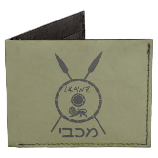 Maccabee Shield And Spears Billfold Wallet