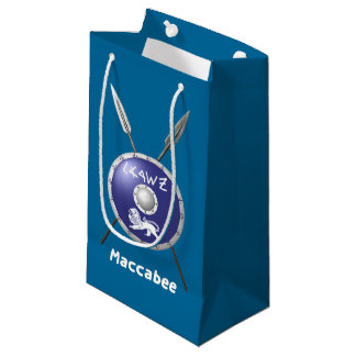 Maccabee Shield And Spears Small Gift Bag