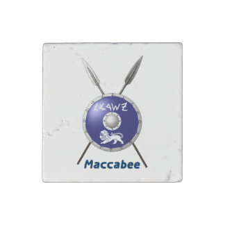 Maccabee Shield And Spears Stone Magnet